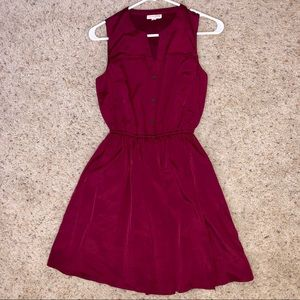Maison Jules Fit and Flare Burgundy XS Dress